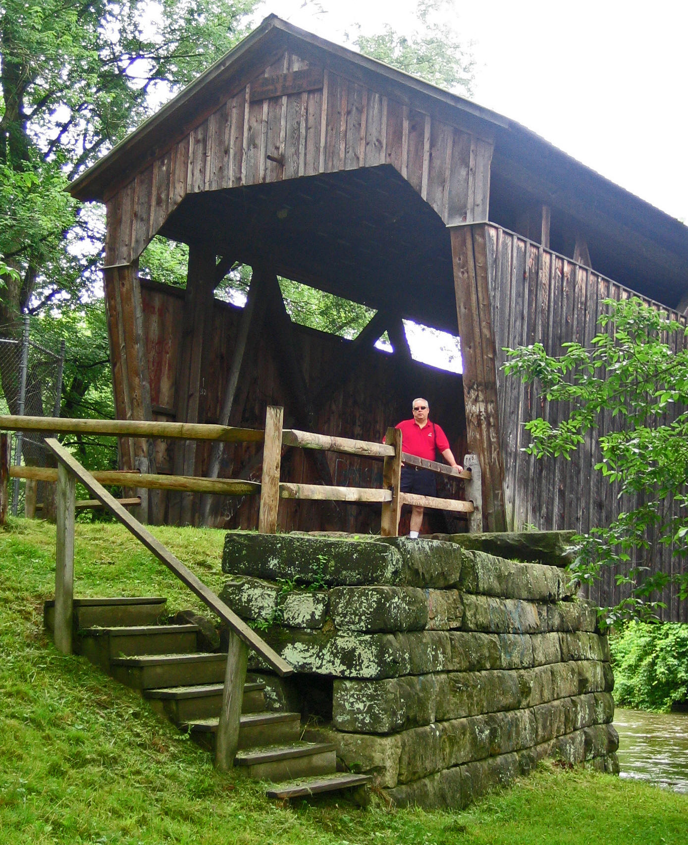 Greg at Covered bridge